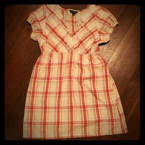 Volcom plaid tunic/mini